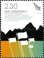 [The 50th Anniversary of the Antarctic Treaty, type CP]