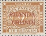 [Numeral Stamps - Belgian Congo Postage Due Stamps of 1923 Overprinted