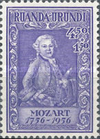 [The 200th Anniversary of the Birth of Wolfgang Amadeus Mozart, 1756-1791, type BT]