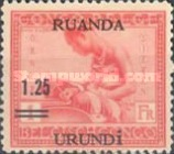 [Previously Issued Stamps Surcharged, type E]