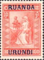 [Belgian Congo Postage Stamps Overprinted, Tipo F]