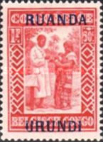 [Belgian Congo Postage Stamps Overprinted, Tipo F4]