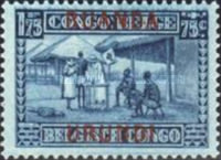 [Belgian Congo Postage Stamps Overprinted, Tipo F5]