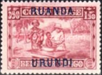 [Belgian Congo Postage Stamps Overprinted, Tipo F6]