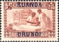 [Belgian Congo Postage Stamps Overprinted, Tipo F7]