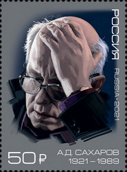 [The 100th Anniversary of the Birth of Andrei Sakharov, 1921-1989, type DEL]