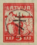 [Latvia Postage Stamps of 1919 Handstamped, Typ B]