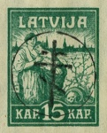 [Latvia Postage Stamps of 1919 Handstamped, Typ B1]