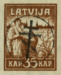 [Latvia Postage Stamps of 1919 Handstamped, Typ B2]