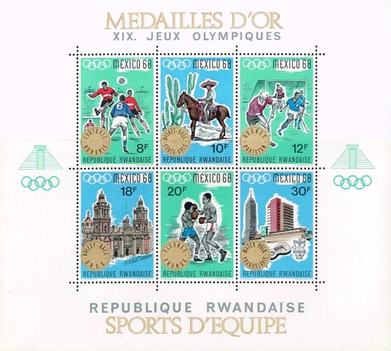 [Gold Medal Winners from the Olympic Games - Mexico City, Mexico, Typ ]