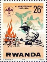 [The 10th Anniversary of Rwanda Scout Association, Typ ACD]