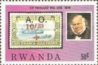 [The 100th Anniversary of the Death of Rowland Hill, 1795-1879, Typ AFS]