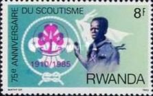 [The 75th Anniversary of Girl Guide Movement - Stamps of 1983 Overprinted With Emblem and