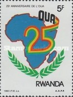 [The 25th Anniversary of Organization of African Unity, Typ AUO]