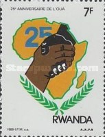 [The 25th Anniversary of Organization of African Unity, Typ AUP]