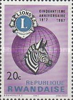 [The 50th Anniversary of Lions International, Typ DR]