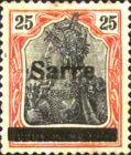 [German Empire Stamps Overprinted