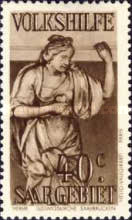 [Charity Stamps - Statues from Saarbruchen Churches, Typ BV]