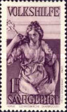 [Charity Stamps - Statues from Saarbruchen Churches, Typ BX]