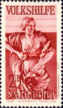 [Charity Stamps - Statues from Saarbruchen Churches, Typ BZ]