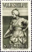 [Charity Stamps - Statues from Saarbruchen Churches, Typ CA]