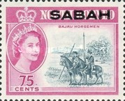 [North Borneo Postage Stamps of 1961 Overprinted