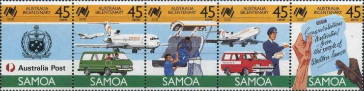 [The 200th Anniversary of Australian Settlement - Postal Services, Typ ]