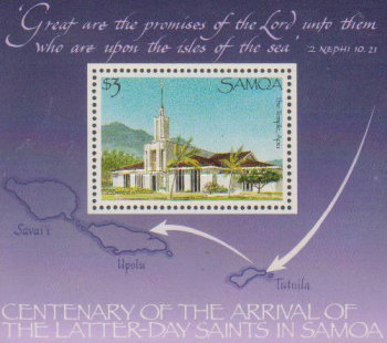 [The 100th Anniversary of Arrival of the Latter-Day Saints in Samoa, Typ ]