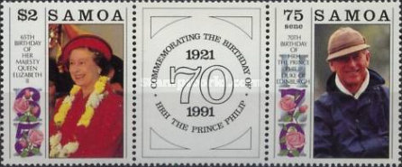 [The 65th Anniversary of the Birth of Queen Elizabeth II, and the 70th Anniversary of the Birth of Prince Philip, type ]