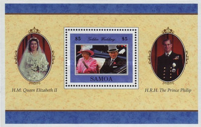 [The 50th Anniversary of Wedding of Queen Elizabeth II and Prince Philip, Typ ]
