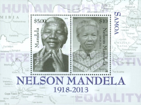 [The 1st Anniversary of the Death of Nelson Mandela, 1918-2013, Typ ]
