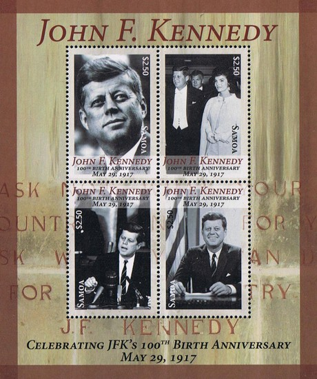 [The 100th Anniversary (2017) of the Birth of John F. Kennedy, 1917-1963, type ]
