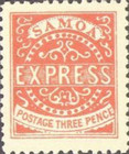 """[Express Stamps - Line Above """"X"""" Roughly Retouched. Upper Right Serif of """"M"""" Bends Down to Dot, type A14]"""