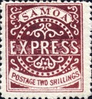 """[Express Stamps - Line Above """"X"""" Roughly Retouched. Upper Right Serif of """"M"""" Bends Down to Dot, type A19]"""