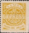 """[Express Stamps - Line Above """"X"""" Broken. Small Dot Near Upper Right Serif of """"M"""", type A7]"""