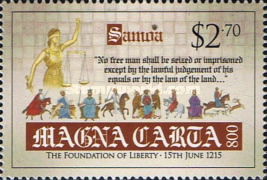 [The 800th Anniversary of the Magna Carta Documents, Typ AQV]