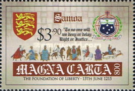 [The 800th Anniversary of the Magna Carta Documents, Typ AQX]