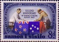 [The 2nd Anniversary of New Zealand-Samoa Treaty of Friendship, type BL1]
