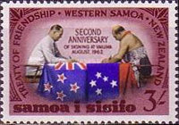 [The 2nd Anniversary of New Zealand-Samoa Treaty of Friendship, type BL3]