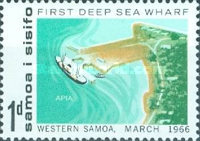 [Opening of First Deep Sea Wharf, Apia, type BT]