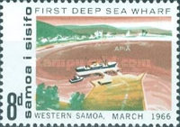 [Opening of First Deep Sea Wharf, Apia, Typ BU]