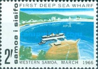 [Opening of First Deep Sea Wharf, Apia, type BV]