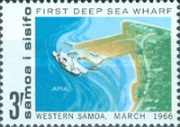 [Opening of First Deep Sea Wharf, Apia, type BW]