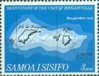 [The 200th Anniversary of Count Louis de Bougainville's Visit to Samoa, Typ DG]