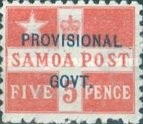 [Number 27 Overprinted in Blue, type E1]