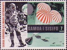 [First Manned Moon Landing by Apollo 11 and Control in the Waters of Samoa, Typ EB]