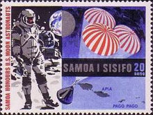 [First Manned Moon Landing by Apollo 11 and Control in the Waters of Samoa, Typ EB1]