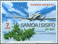 [Airmail - International Air Passenger and Airmail Service on the occasion of the Opening of the Regular Service between Apia and Asau, type EP]