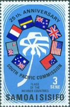 [The 25th Anniversary of South Pacific Commission, Typ FV]