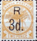 [Registered Mail - Number 19 Surcharged, type G1]